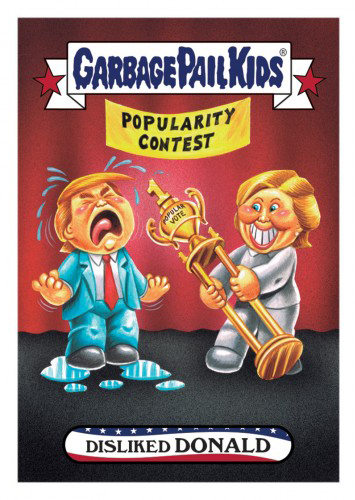 2016 Topps Garbage Pail Kids Dis-grace to the White House 93 Disliked Donald