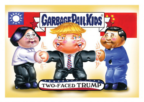 2016 Topps Garbage Pail Kids Dis-grace to the White House 95 Two Faced Trump