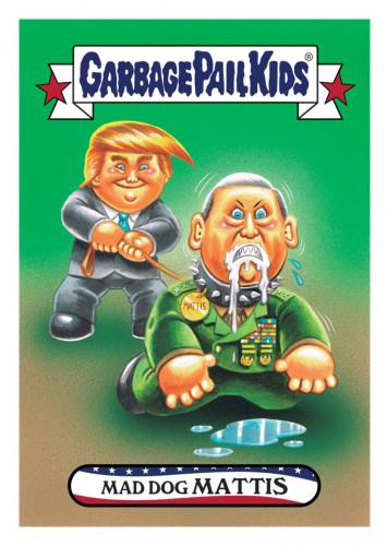 2016 Topps Garbage Pail Kids Dis-grace to the White House 96 Mad Dog Mattis