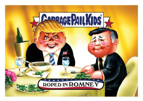 2016 Topps Garbage Pail Kids Dis-grace to the White House Roped In Romney
