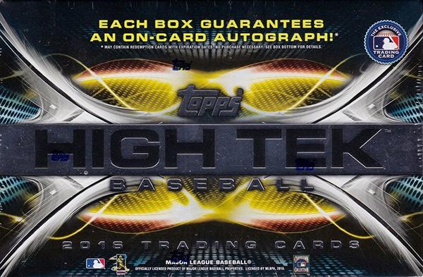 2016 Topps High Tek Baseball Box