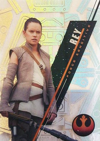 2016 Topps Star Wars High Tek Variation Short Prints SW-75B Rey