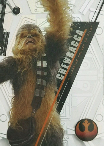 2016 Topps Star Wars High Tek Variation Short Prints SW-88A Chewbacca