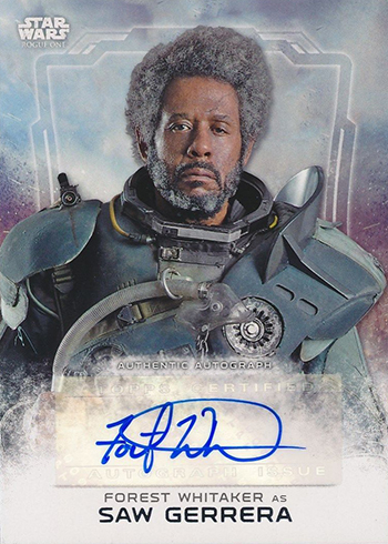 2016 Topps Star Wars Rogue One Series 1 Forest Whitaker Autograph