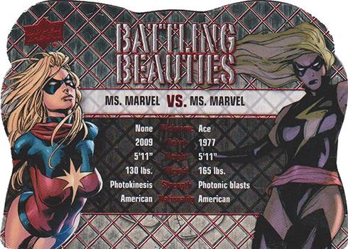 2016 UD Marvel Gems Battling Beauties Scarlet Witch Vs Magik BB-12