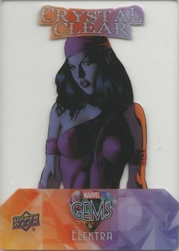 2016 Upper Deck Marvel Gems Crystal Clear 1 Elektra