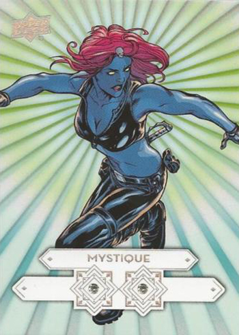 2016 Upper Deck Marvel Gems Diamond Cut Double Mystique