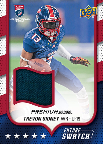 2016 Upper Deck USA Football Future Swatch Trevon Sidney