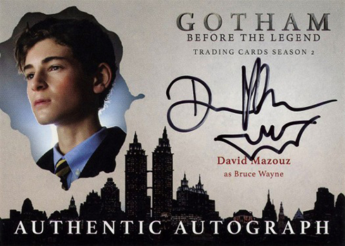 2017 Cryptozoic Gotham Season 2 Autographs David Mazouz