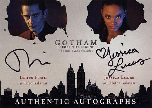 2017 Cryptozoic Gotham Season 2 Dual Autograph James Frain Jessica Lucas