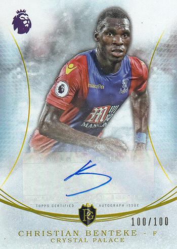 2017 Topps Premier Gold EPL Soccer Moments Autographs Christian Benteke