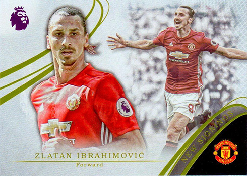 2017 Topps Premier Gold EPL Soccer New Signings Zlatan Ibrahimovic