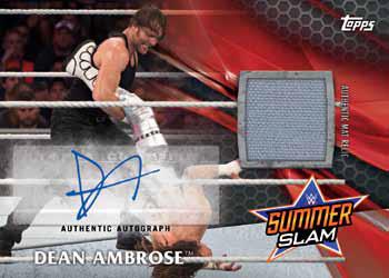 2017 Topps WWE ummerSlam Autograph Mat Relic