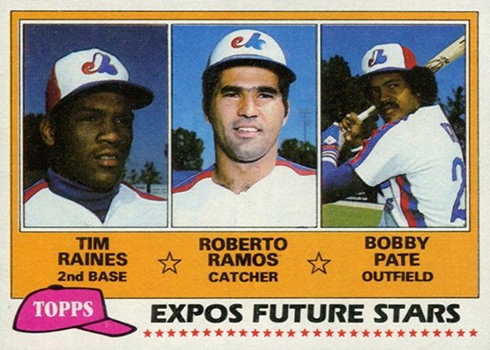 1981 Topps Tim Raines RC