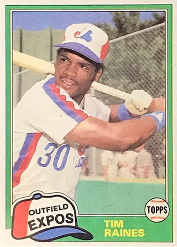 1981 Topps Traded Tim Raines