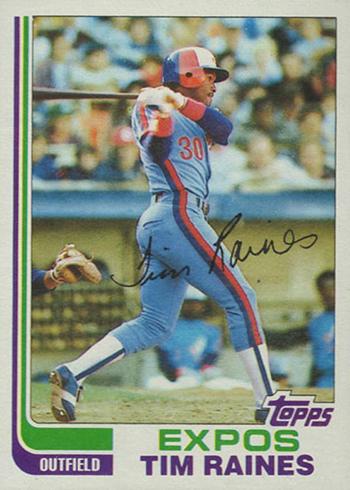 1982 Topps Tim Raines