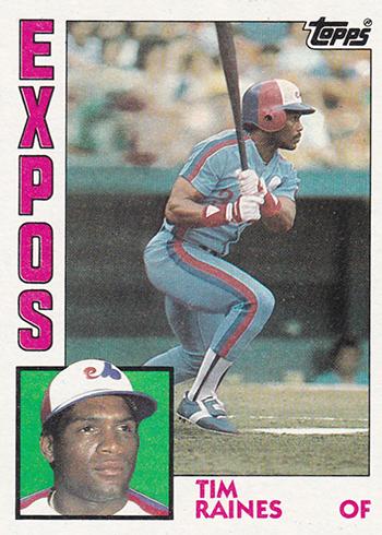 1984 Topps Tim Raines