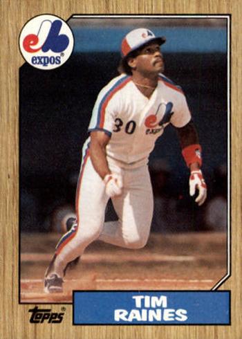 1987 Topps Tim Raines