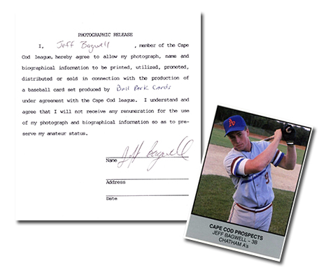 1988 Cape Cod Prospects Ballpark Jeff Bagwell Header