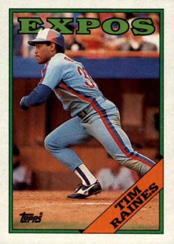 1988 Topps Tim Raines