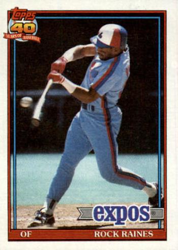 1991 Topps Tim Raines