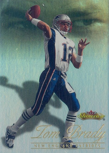 2000 Fleer Showcase Tom Brady RC