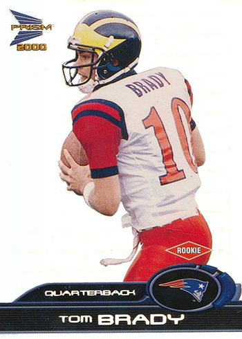 2000 Pacific Prisms Prospects Tom Brady RC
