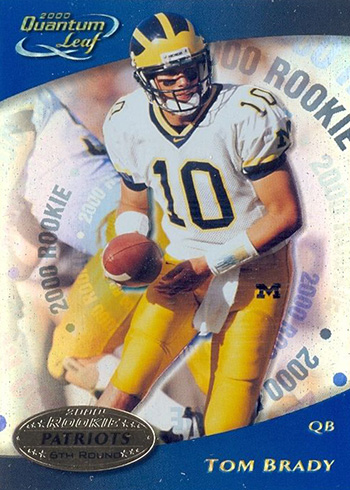 2000 Quantum Leaf Tom Brady RC