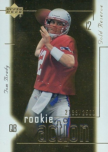 2000 Upper Deck Gold Reserve Tom Brady Rookie Card