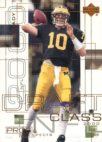 2000 Upper Deck Pros and Prospects Tom Brady RC