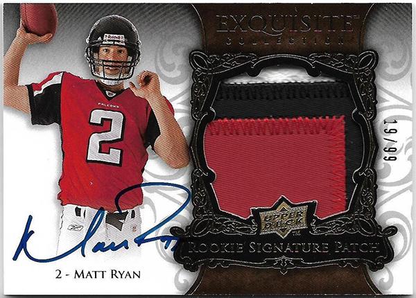 2008 Upper Deck Exquisite Matt Ryan Autograph Patch 99-19