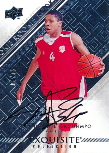 2013-14 Exquisite Collection Giannis Antetokounmpo Autograph