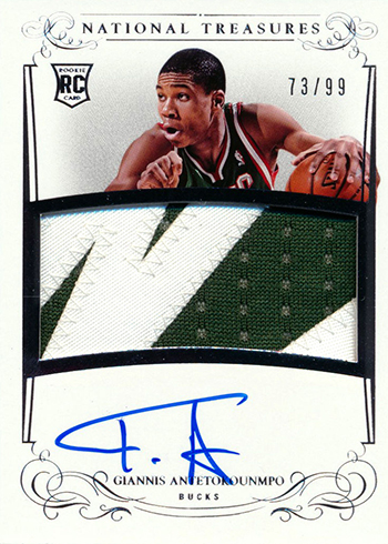 2013-14 Panini National Treasures Giannis Antetokounmpo Rookie Card