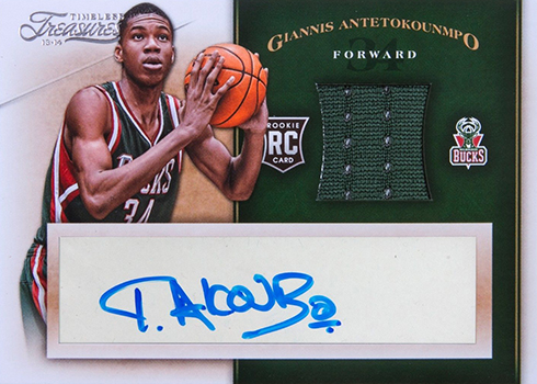 2013-14 Timeless Treasures Giannis Antetokounmpo RC