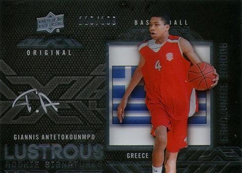 2013-14 UD Black Giannis Antetokounmpo Autograph