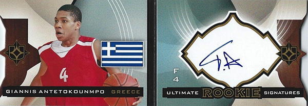 2013-14 Ultimate Collection Giannis Antetokounmpo Autograph