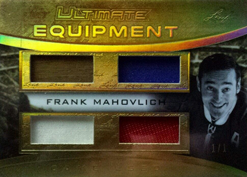 2016-17 Leaf Ultimate Equipment Frank Mahovlich