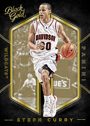 2016-17 Panini Black Gold Collegiate Basketball Base Curry