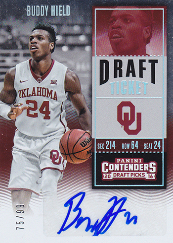 2016-17 Panini Contenders Draft Picks Buddy Hield Draft Ticket Autograph 99