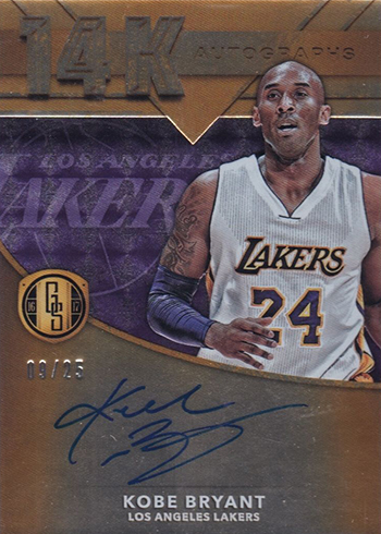 2016-17 Panini Gold Standard Basketball 14K Autographs Kobe Bryant