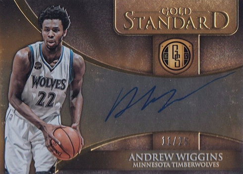 2016-17 Panini Gold Standard Basketball Gold Standard Autographs Andrew Wiggins