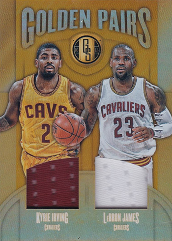 2016-17 Panini Gold Standard Basketball Golden Pairs Kyrie Irving LeBron James
