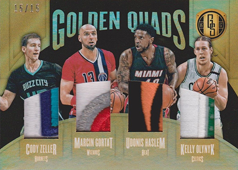 2016-17 Panini Gold Standard Basketball Golden Quads Black
