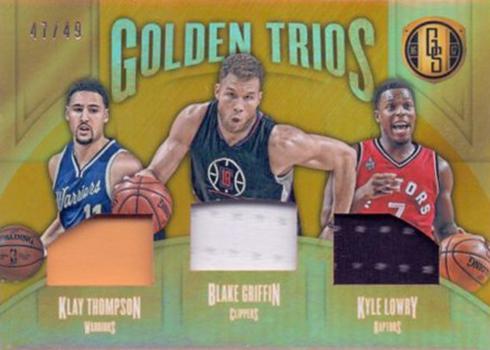 2016-17 Panini Gold Standard Basketball Golden Trios