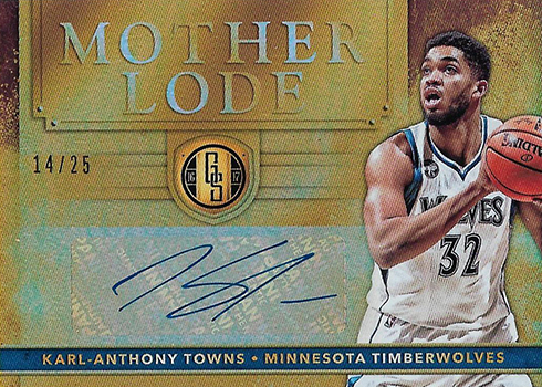 2016-17 Panini Gold Standard Basketball Mother Lode Karl-Anthony Towns