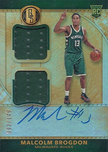 2016-17 Panini Gold Standard Basketball Rookie Jersey Autographs Double Malcolm Brogdon