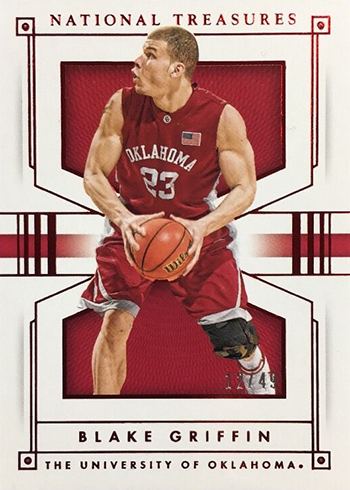 2016-17 Panini National Treasures Collegiate Basketball Base Red Blake Griffin