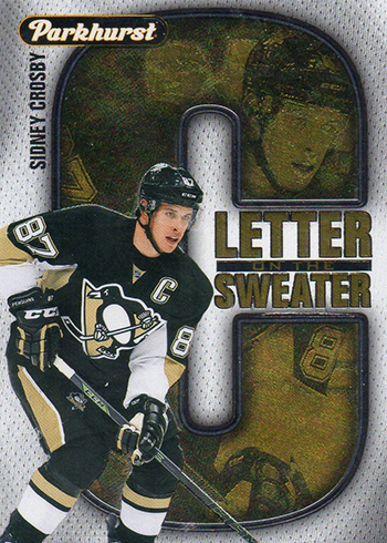 2016-17 Parkhurst Hockey Letter on the Sweater Sidney Crosby
