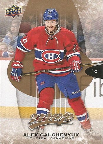 2016-17 Upper Deck MVP Base Alex Galchenyuk