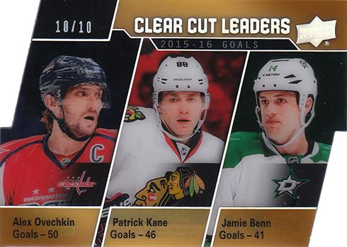 2016-17 Upper Deck Series 1 Hockey Clear Cut Leaders Ovechkin Benn Kane